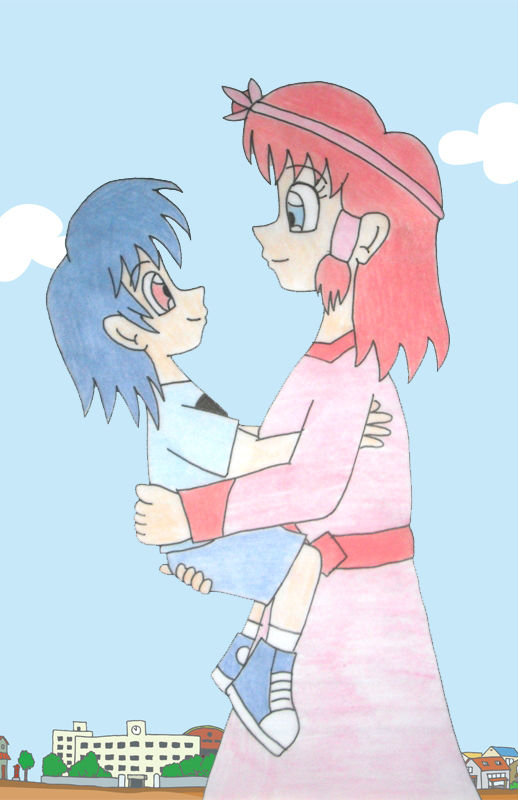 Human LBT  Ruby and Chomper bonding by Animedalek1