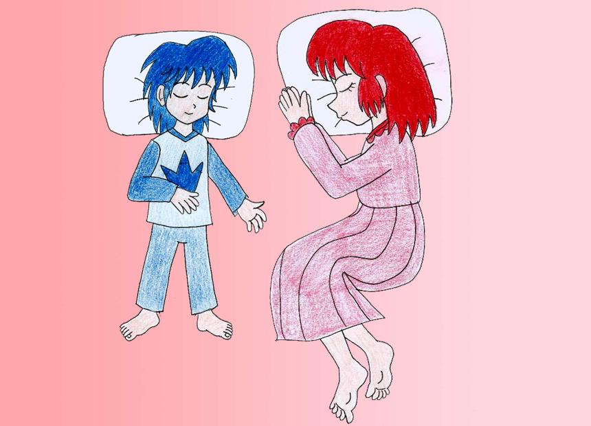 Human LBT Ruby and Chomper sleeping by Animedalek1 on DeviantArt