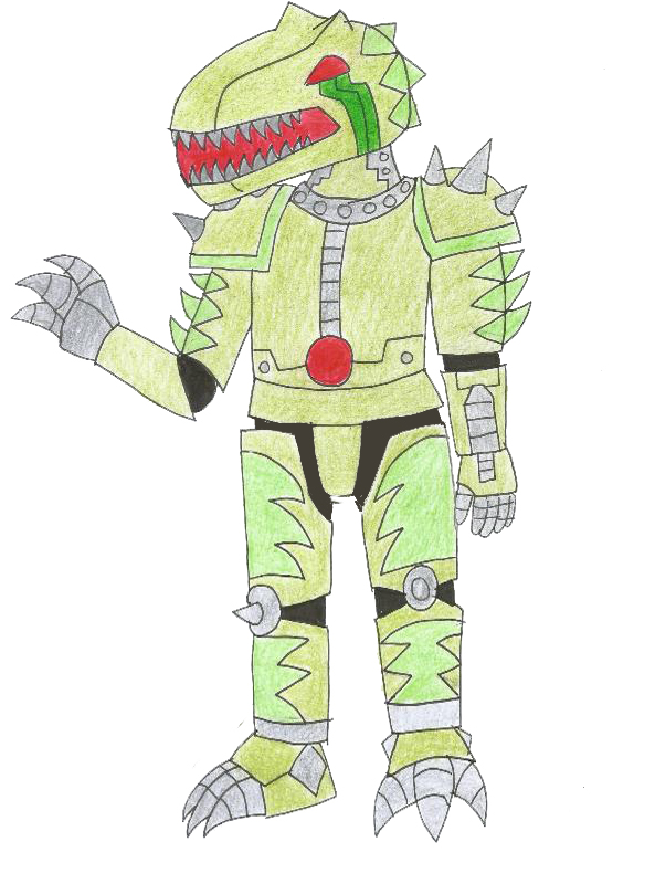 Human LBT Android plated sharptooth by Animedalek1