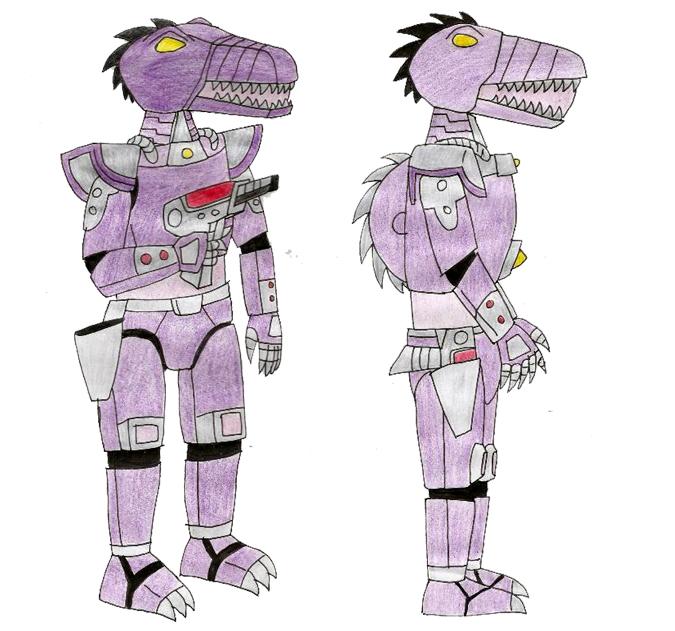 Human LBT Android Spinosaurus by Animedalek1