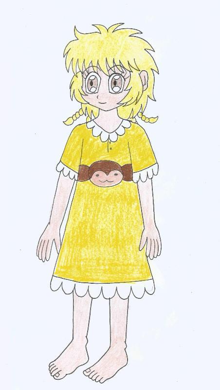 Pudding in night dress (fan made) by Animedalek1