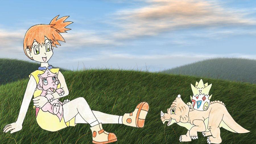 Cera Misty Tricia and Togepi by Animedalek1