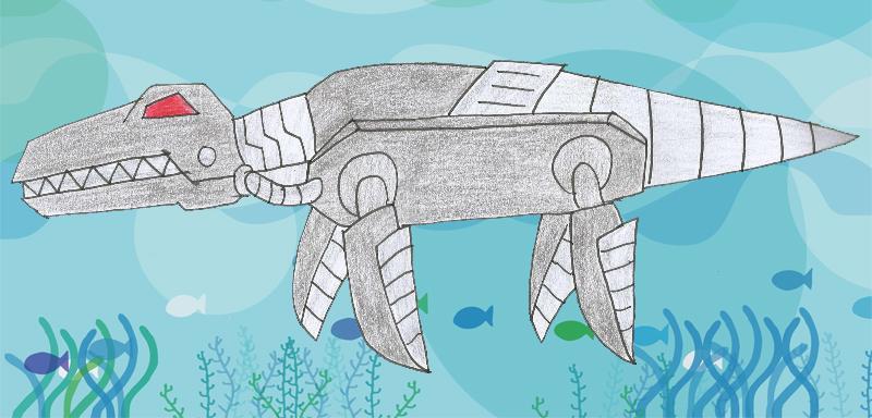 Human LBT Robo Liopleurodon by Animedalek1