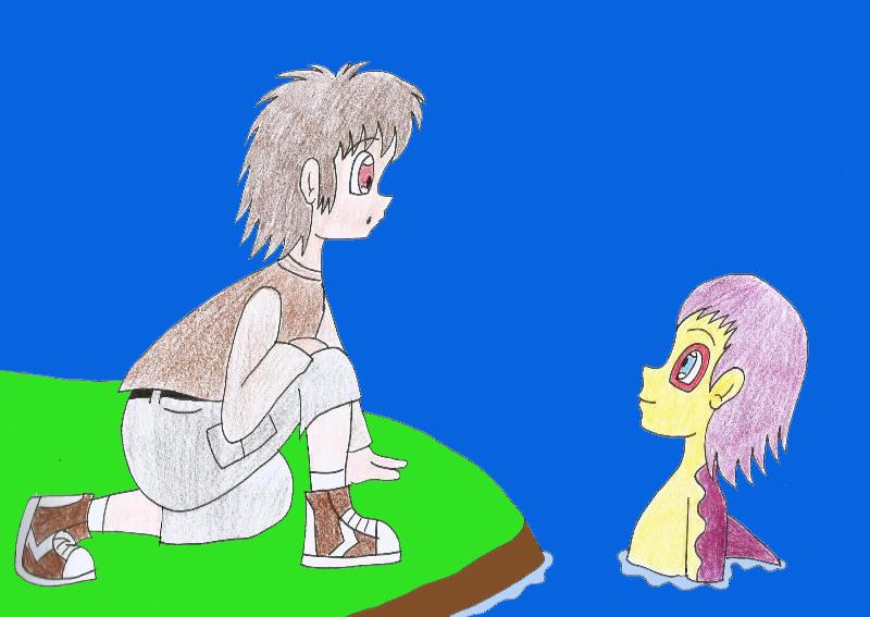 Human LBT Littlefoot meets Mo by Animedalek1