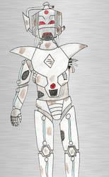 My own cyberman design damaged redraw by Animedalek1