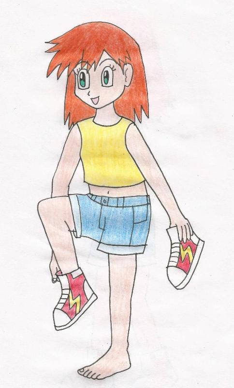 Misty putting her shoes on by animedalek1 on deviantart - Pokemon misty feet ...