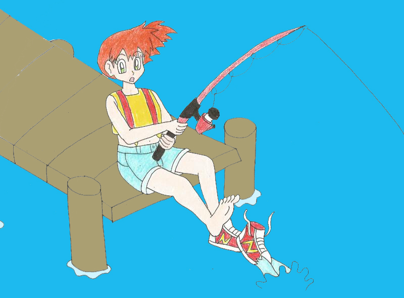 Misty gets her shoe stolen by animedalek1 on deviantart - Pokemon misty feet ...