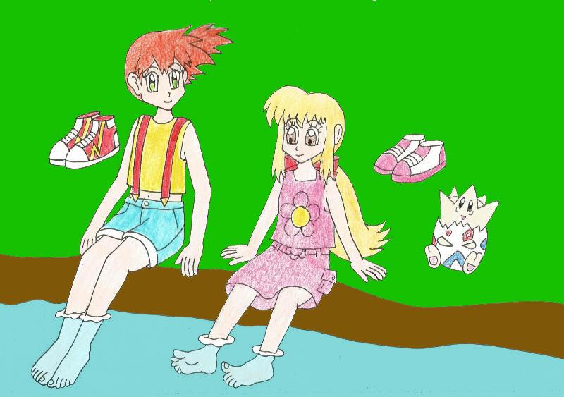 bd6f05d7b36f Meg and Misty soaking their feet by Animedalek1 on DeviantArt