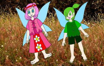 Cherryblossom and Hollydew by Animedalek1