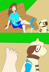 Sally's pokemon foot paint fun by Animedalek1
