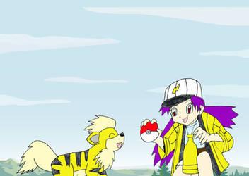Wanna join my team growlithe by Animedalek1