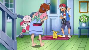 Barefoot Delia tells Pikachu off