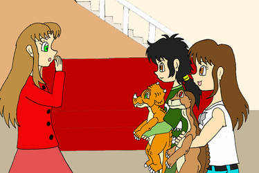 Melissa sees Littlefoot and Cera changed back by Animedalek1