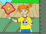 Misty's handkerchief gets blown away by Animedalek1