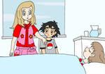 Serena convinces Ash to get some rest