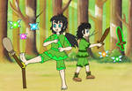 Elric and Eda keep up their skills by Animedalek1