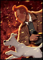 Tintin : Burning Dust Storm by memotava