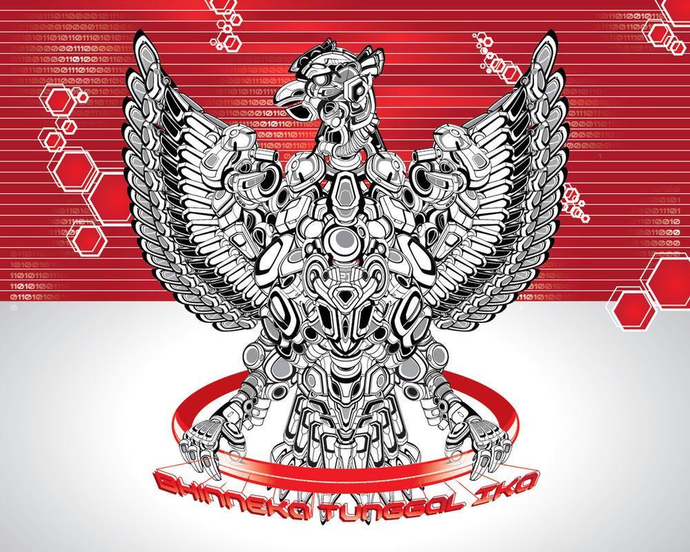 Garuda Pancasila -Cybotage- by ben-aji
