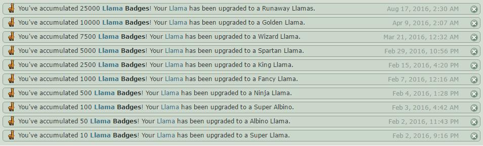 Llama Levels by deviantar-t