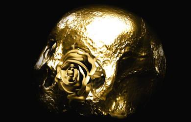 Golden Skull by TonyKGFX