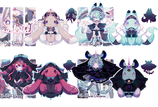 .:MYSTERY ADOPTS - CLOSED:. Plushies to KEMONOMIMI