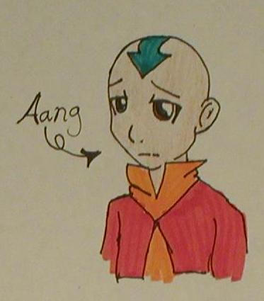 Aang:: First attempt by HieiandKuramaLover