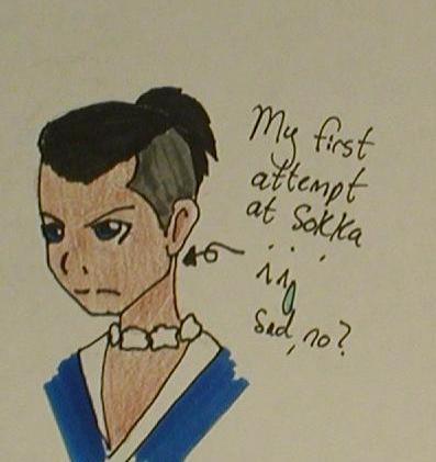 Sokka::First Try by HieiandKuramaLover