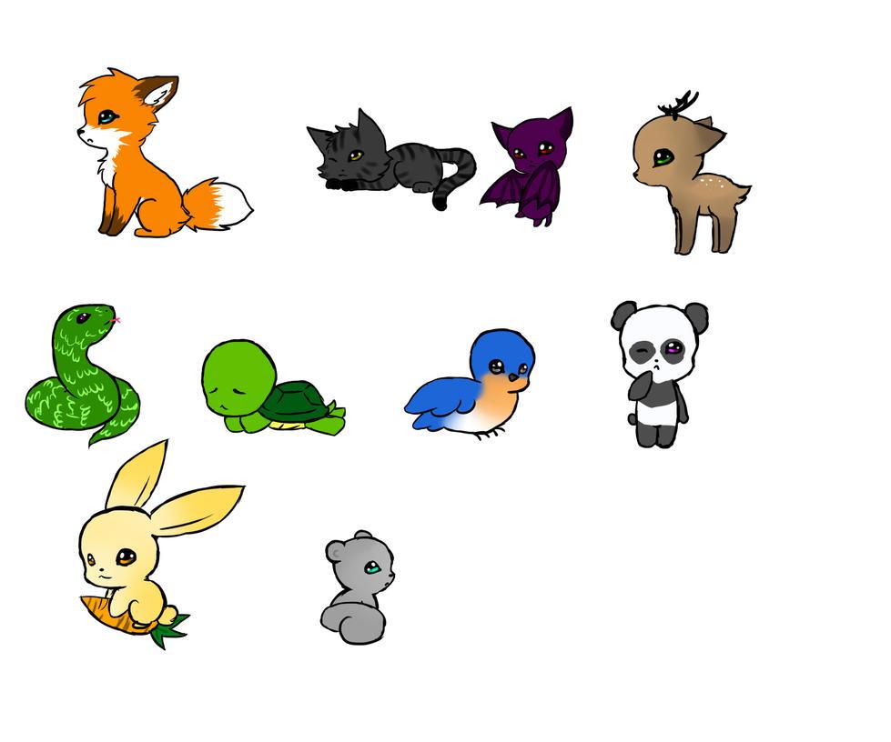 chibi animals by summ78 on DeviantArt