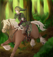 Link on Epona by summ78