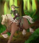 Link on Epona