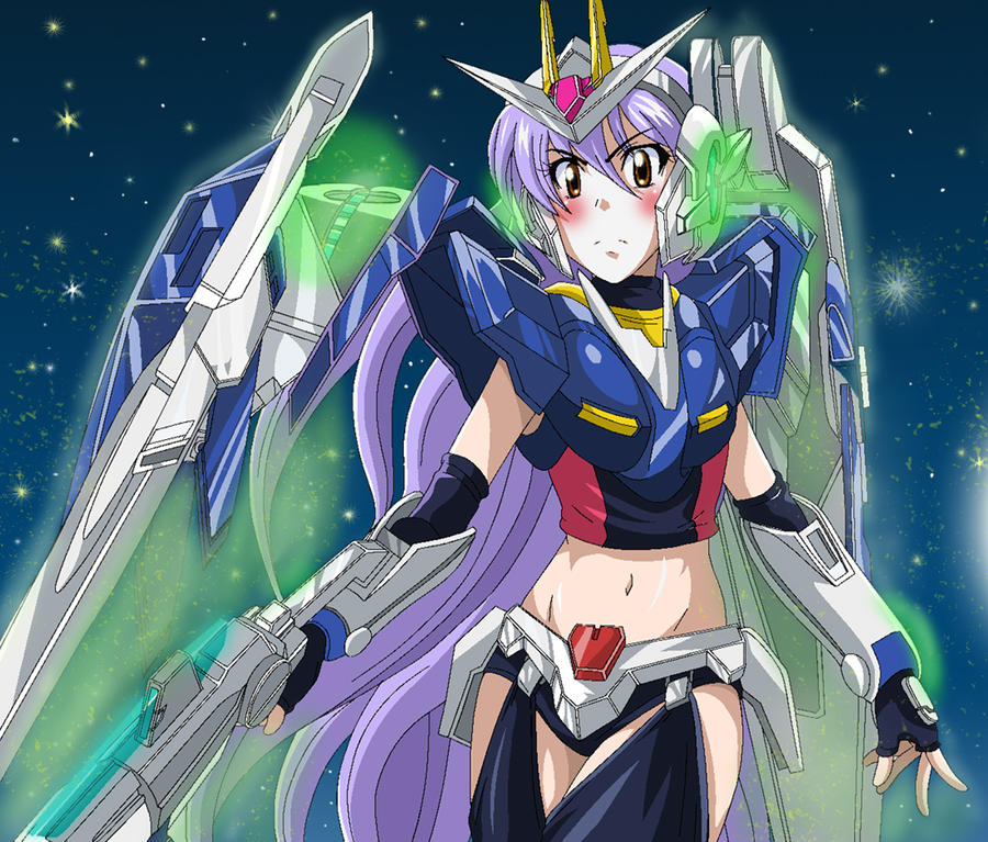 gundam oo girl fan art by powerf on deviantart