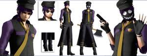 [MMD FNAF] (NO DL) Purple Guy by Kinishan