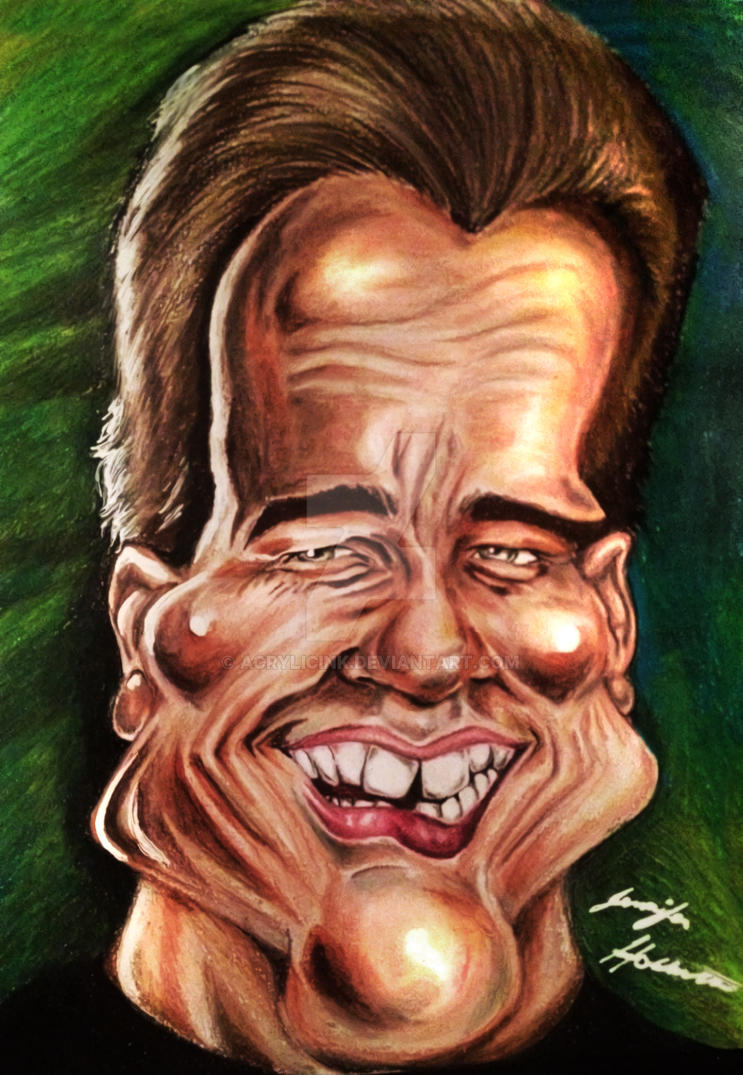 Arnold Schwarzenegger Caricature by AcrylicInk