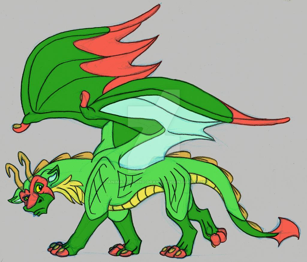 Dragon Color Sketch by Animator-who-Draws