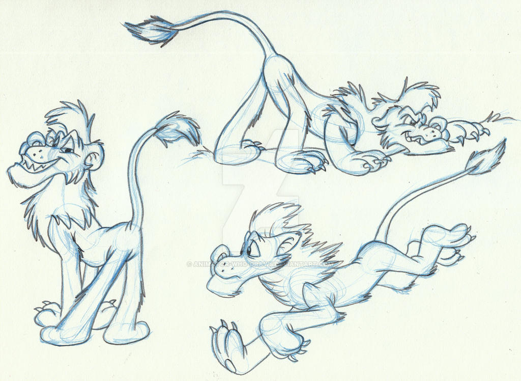 Lion cartoon by Animator-who-Draws