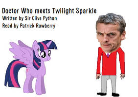 Doctor Who meets Twilight Sparkle-  Book Cover by 14jammar