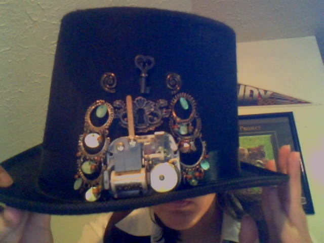 steampunk top hat by AlphonseElric411
