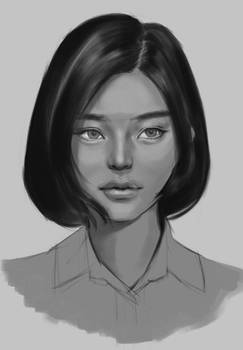 Grayscale painting practice