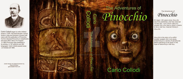Pinocchio Book Cover by JorgeAdolfoGonzalez