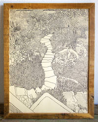 Garden with stone stair