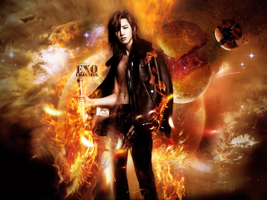 Chanyeol-FIRE by jaz1185