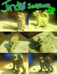 Jindo Sculpture WIP by Jindovi