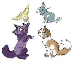 Puppy Sketches by Jindovi