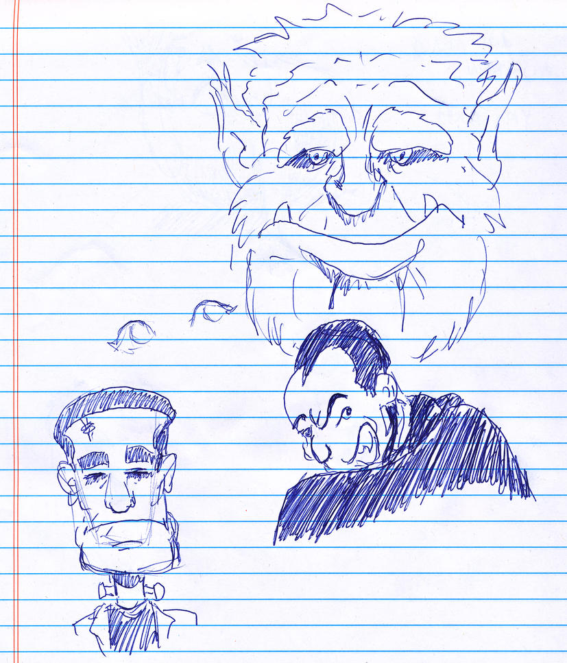 Day 295 of a Year of Drawing 2014 3 by Kevin-B-Madison