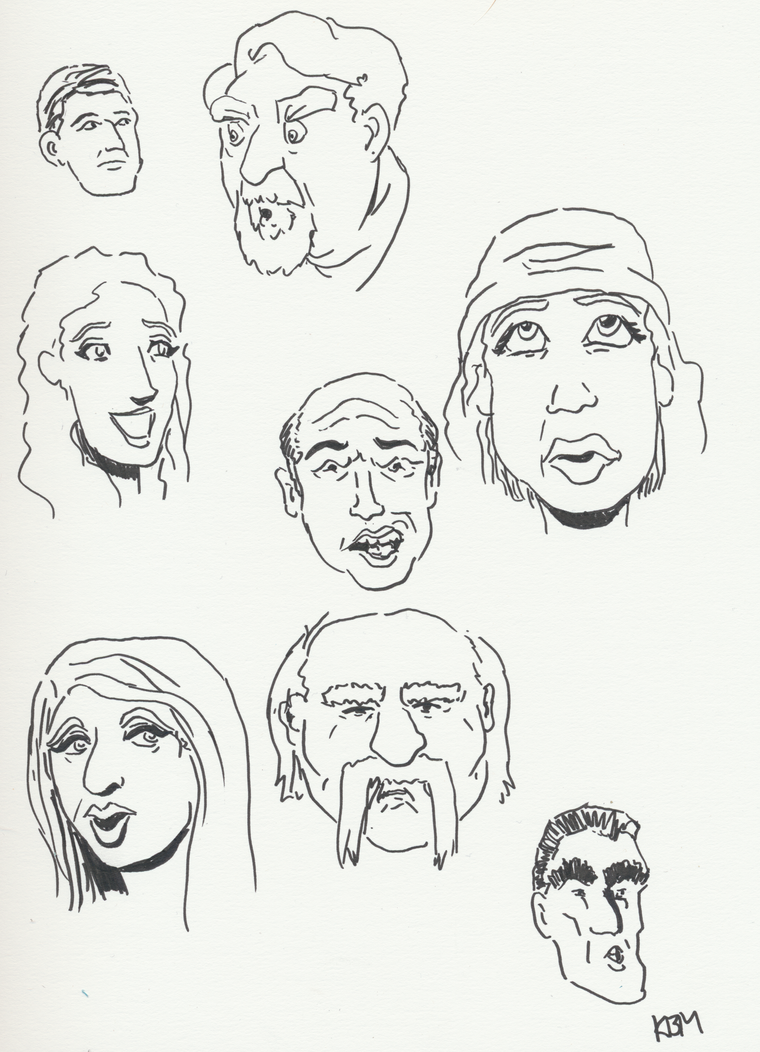 Day 179 of a Year of Drawing 2015 - Part Two by Kevin-B-Madison