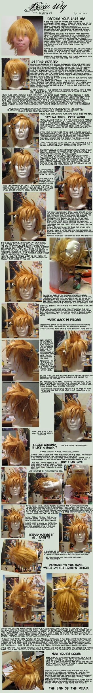 Roxas/Ventus Wig Tutorial (v7 wig) by kuro-heise