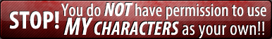 Button: No using characters 1