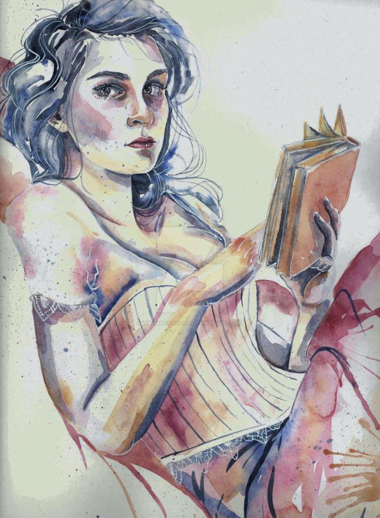 Reading in ma Nightie by HitomiTatsuyo