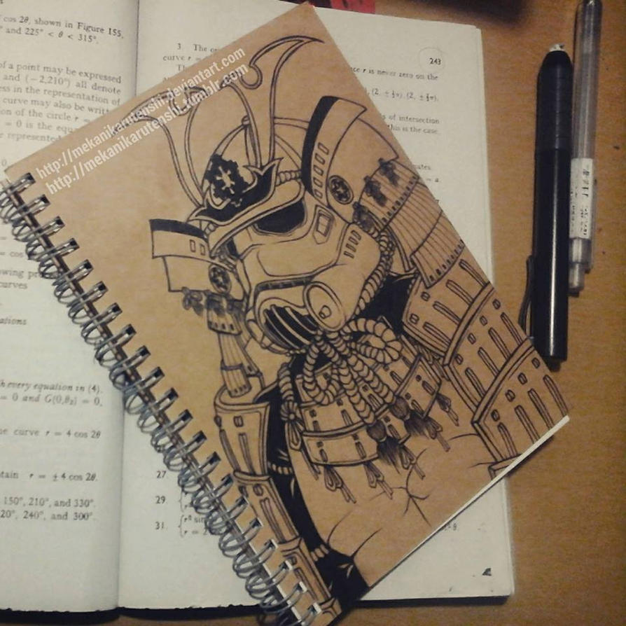 Samurai Stormtrooper - Custom Notebook Cover by mekanikarutenshi
