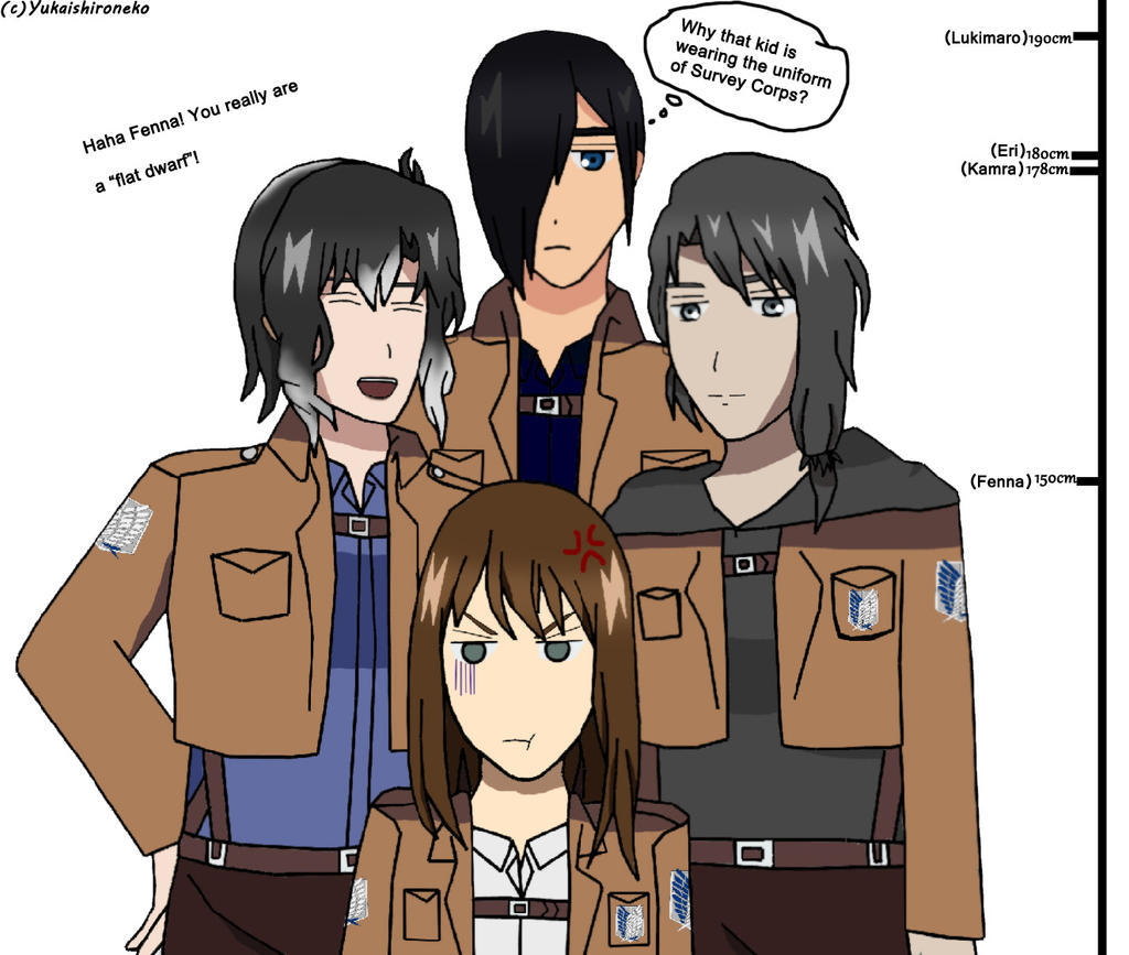 AoT/SnK OC [Fenna the shorty] by Yukaishironeko